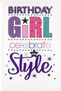 GREETING CARDS,Birthday 6's Text & Stars
