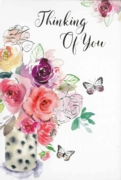 GREETING CARDS,Thinking of You 6's Floral Vase