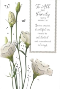 GREETING CARDS,To All the Family 6's White Carnations