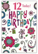 GREETING CARDS,Age 12 Female 12's