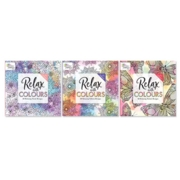 ADULT COLOURING BOOK,Relax With Colours 30pg 3rd Edition