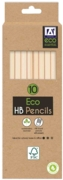 PENCIL,Eco HB Rubber Tipped 10's H/pk