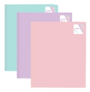 DISPLAY BOOK,A4 20 pocket Pastel Colours