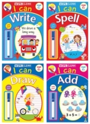 EDUCATIONAL BOOK,Wipe Clean, I Can with Pen,4 Asst Age 6+