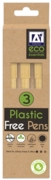BALL PEN,Recycled Plastic Free 3's H/pk