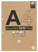 REFILL PAD,Recycled A4 240pg Wide Ruled Pages 70gsm
