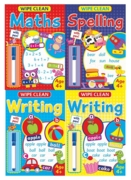 EDUCATIONAL BOOK,Wipe Clean, with Pen,4 Asst Age 4+ 16pg