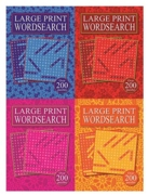 ACTIVITY BOOK,Word Search A5 Large Print 256 Pages 4 Asst.
