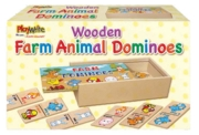 DOMINOES,Wooden Farm Animals Boxed