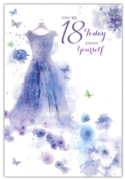 GREETING CARDS,Age 18 Female 12's Floral Dress