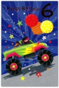 GREETING CARDS,Age 6 Male 6's Monster Truck