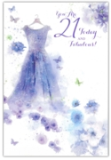 GREETING CARDS,Age 21 Female 12's Floral Dress