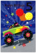 GREETING CARDS,Age 5 Male 6's Monster Truck