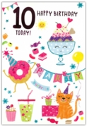 GREETING CARDS,Age 10 Female 6's Party Food & Bunting