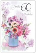 GREETING CARDS,Age 60 Female 6's Floral Vase