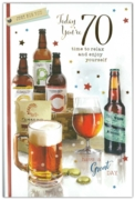 GREETING CARDS,Age 70 Male 6's Beer