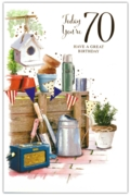 GREETING CARDS,Age 70 Male 6's Gardening