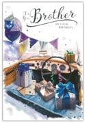 GREETING CARDS,Brother 6's Sports Car & Presents