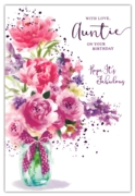 GREETING CARDS,Auntie 6's Floral Glass Vase