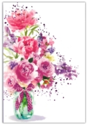 GREETING CARDS,Blank 6's Floral Glass Vase