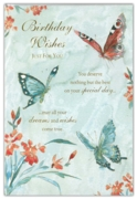 GREETING CARDS,Birthday 6's Butterflies
