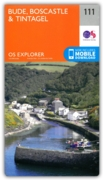 MAP,O/S Bude,Boscastle & Tintagel 2.5in (with Download)